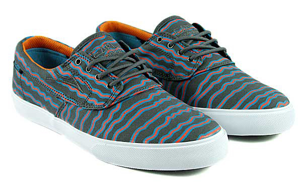 4aa7fbf6c91d Earl Sweatshirt x Lakai Camby Grey Print Canvas Skate Shoes Lakais Camby  silhouette serves as the canvas for this collaboration and Sweatshirt  offers up the ...