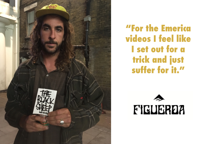 Justin Figgy Figueroa, Emerica MADE Chapter Two Interview Header, Black Sheep Skate Store Blog