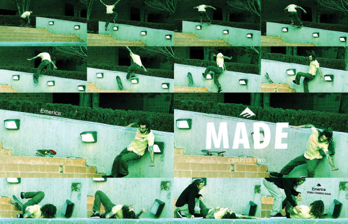 Justin Figgy Figueroa, frontside noseslide slam, Emerica MADE Chapter Two
