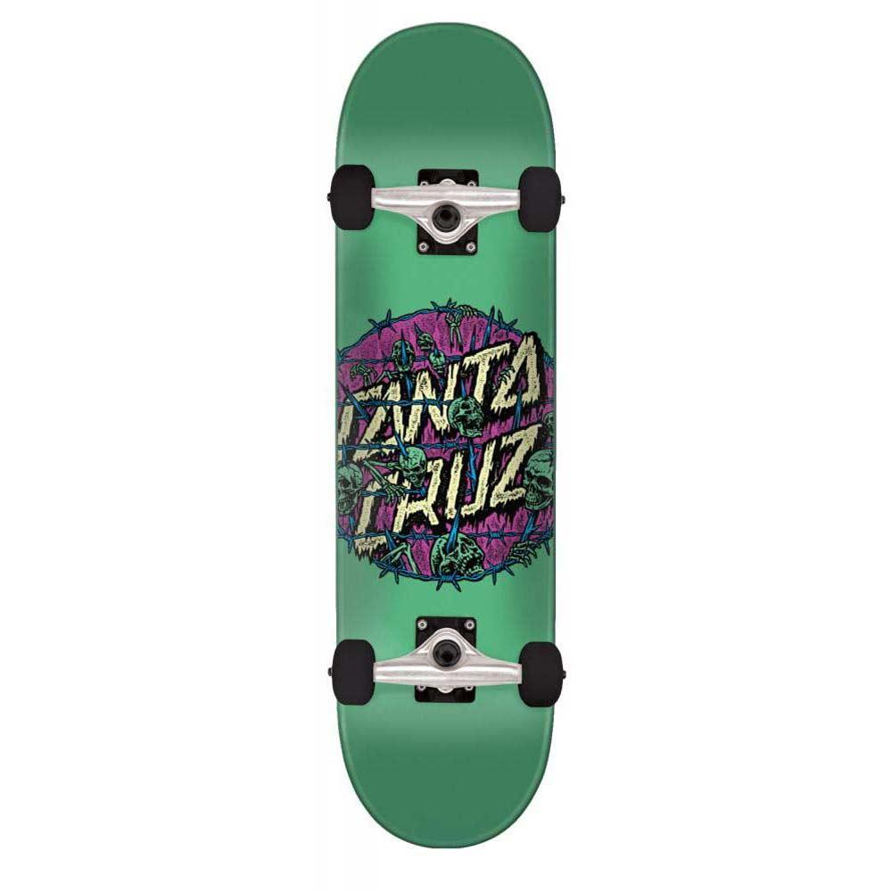 6b67aefb035 Santa Cruz Skateboards Abyss Dot Factory Complete Skateboard Teal 7.75