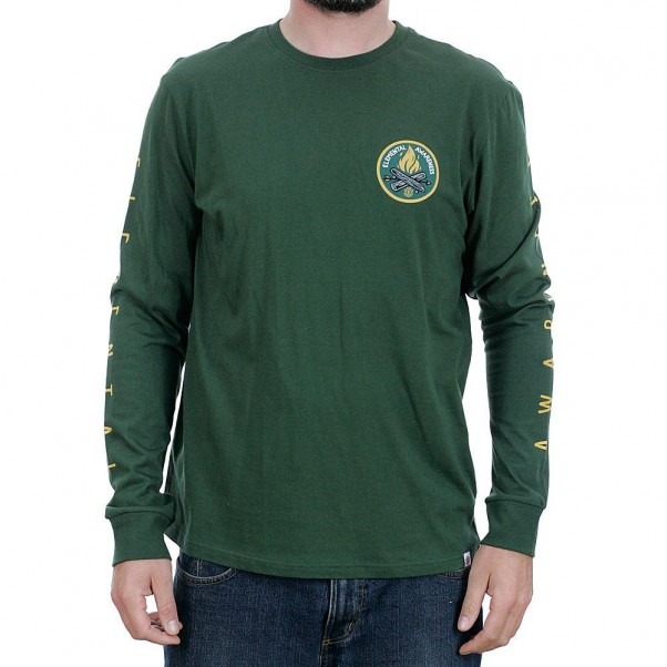 Element EA Logo Long Sleeved T-Shirt Olive Drab