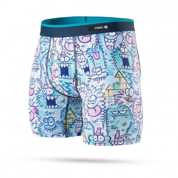 Stance x Kevin Lyons Monster Watercolour Boxer Brief Blue