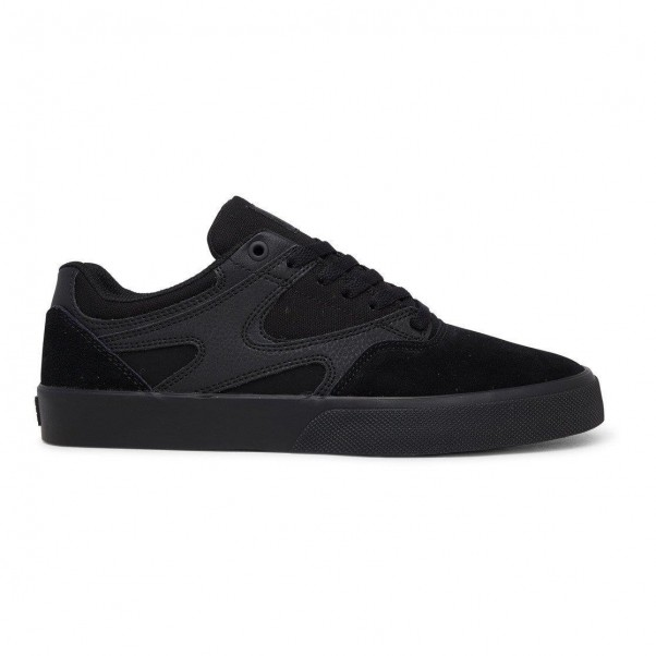 DC Shoe Co Kalis Vulc Black Black Black Skate Shoes