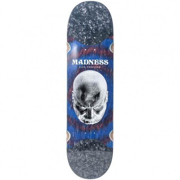 Madness Skateboards Perelson Mindset Slick Red Swirl Skateboard Deck 8.37""