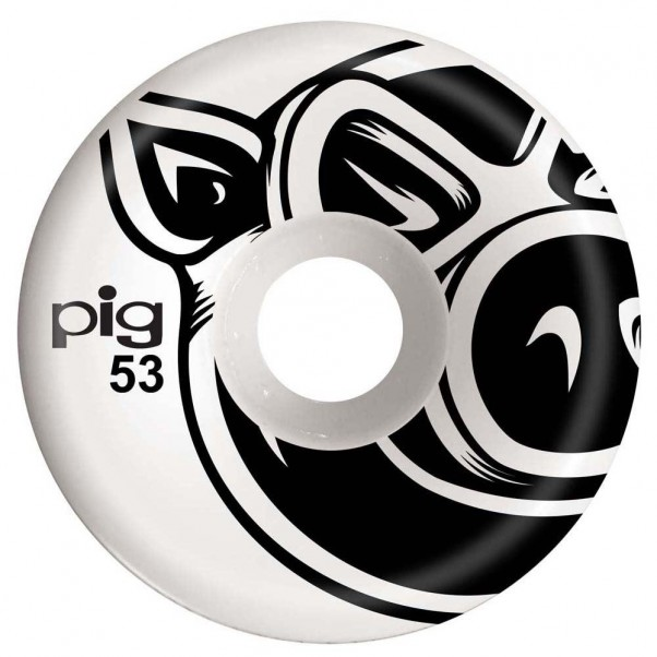 Pig 3D Conical Skateboard Wheels Natural 53mm