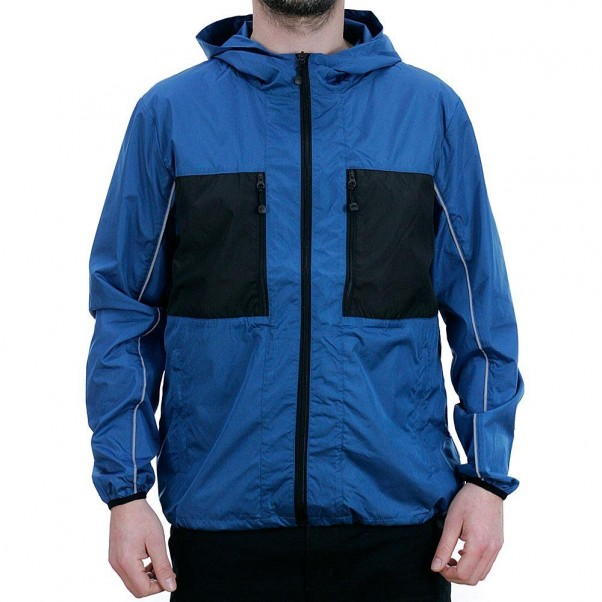 Stussy 3M Nylon Paneled Jacket Blue