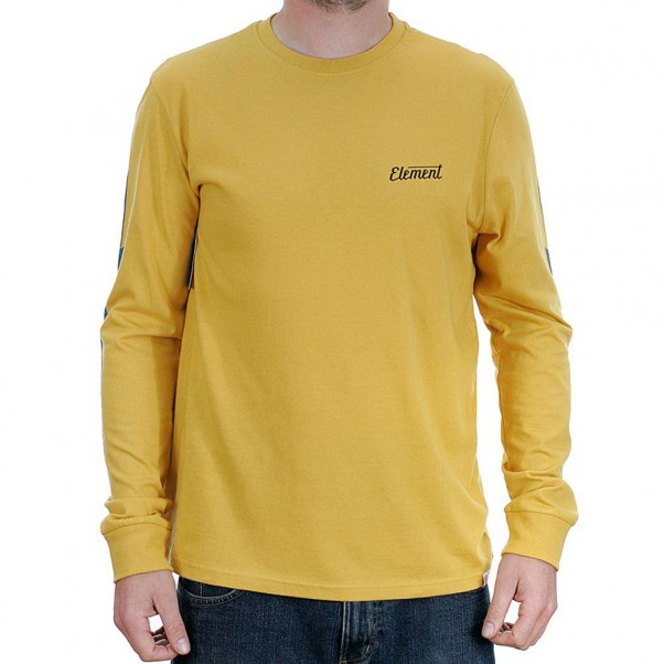 Element Gizmo Long Sleeved T-Shirt Mineral Yellow