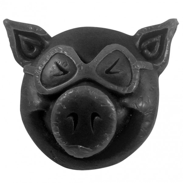 Pig Pig Head Skateboard Wax Black