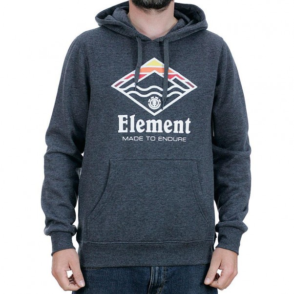 Element Layer Hooded Sweatshirt Charcoal Heather