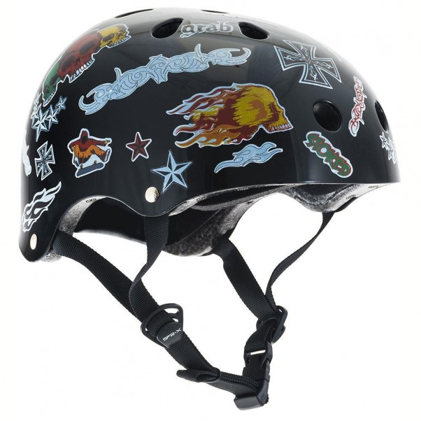 SFR Essentials Skateboard Bmx Helmet Black Sticker