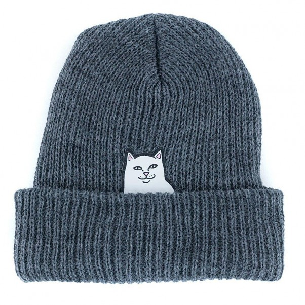 bdf13f7d1074f Rip N Dip Lord Nermal Rib Beanie Hat Charcoal at Black Sheep