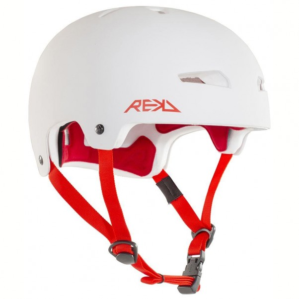 REKD Elite Skateboard Bmx Helmet White/Red