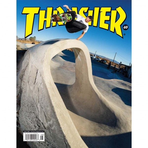 Thrasher Magazine August 2021 Jimmy Wilkins Layback Frontside Ollie Cover