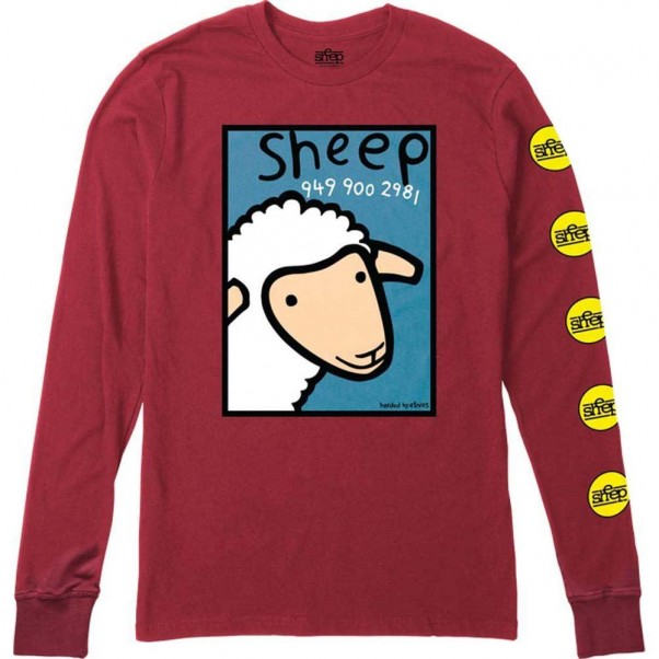 Etnies X Sheep Numbers Long Sleeved T-Shirt Red