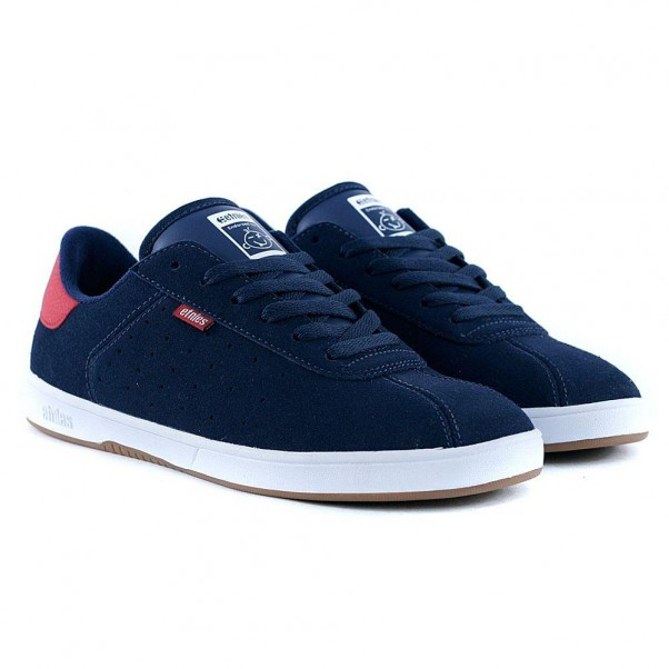 Etnies Footwear The Scam Navy Red White