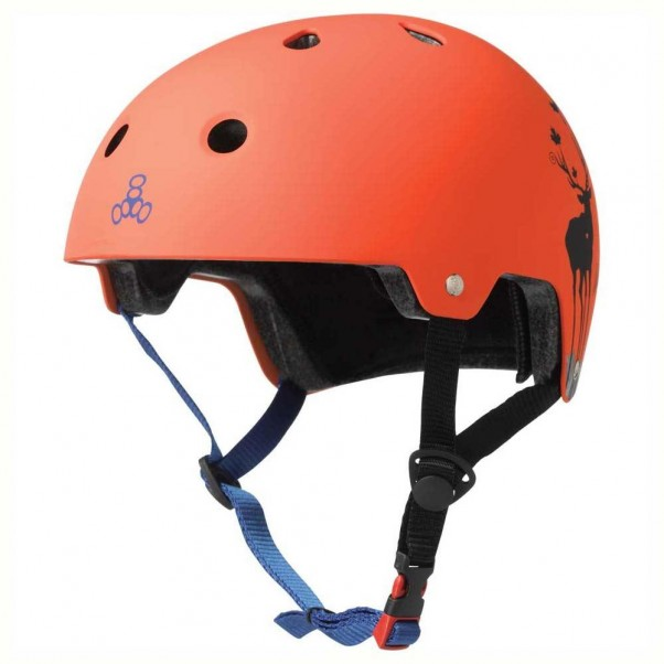 Triple 8 Brainsaver EPS Helmet Switzer Orange