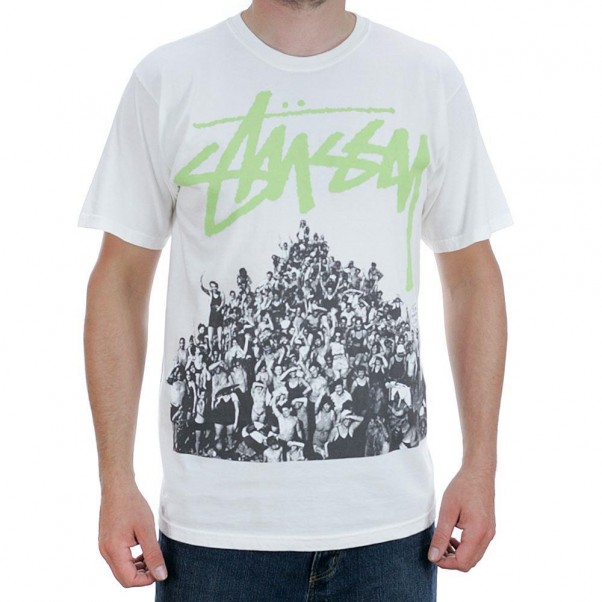 Stussy Beach Mob Pigment Dyed T-Shirt Natural Green
