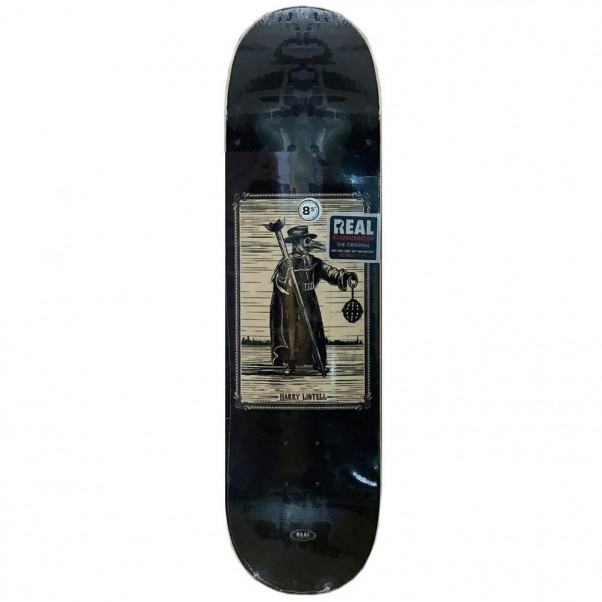 """Real Deck New Pro One Off Harry Lintell Skateboard Deck 8.5"""""""