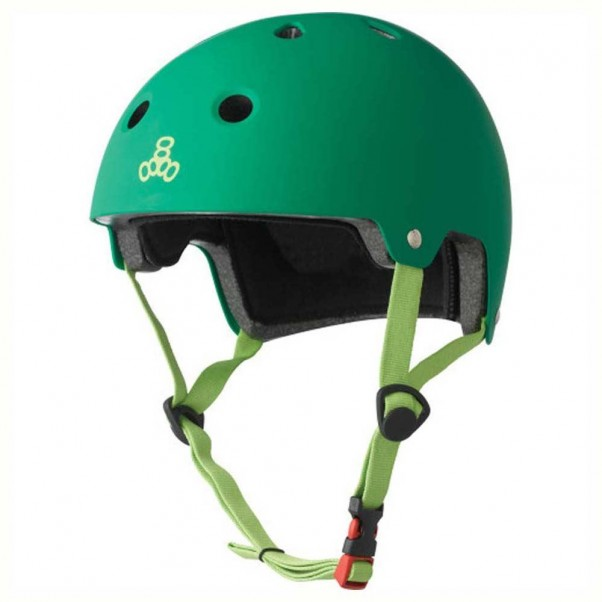 Triple 8 Brainsaver EPS Helmet Rubber Kelly Green