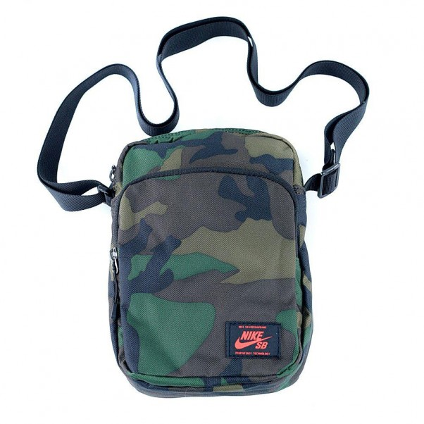 e055b82dc7a0 Nike Sb Heritage Summit Shoulder Bag Iguana Black Team Orange at ...