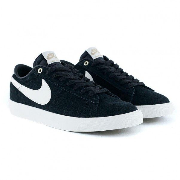 Nike Sb Blazer Low GT Black Sail Skate Shoes
