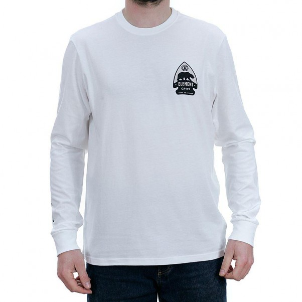 Element Arrow Long Sleeved T-Shirt Optic White