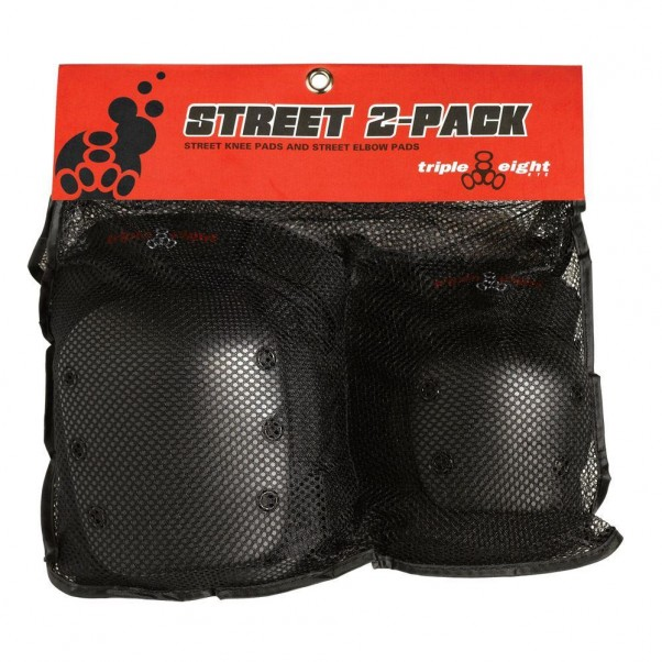 Triple 8 Street Protective Knee Pads Elbow Pads 2 Pack