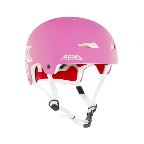 REKD Elite Icon Skateboard Bmx Helmet Pink/White