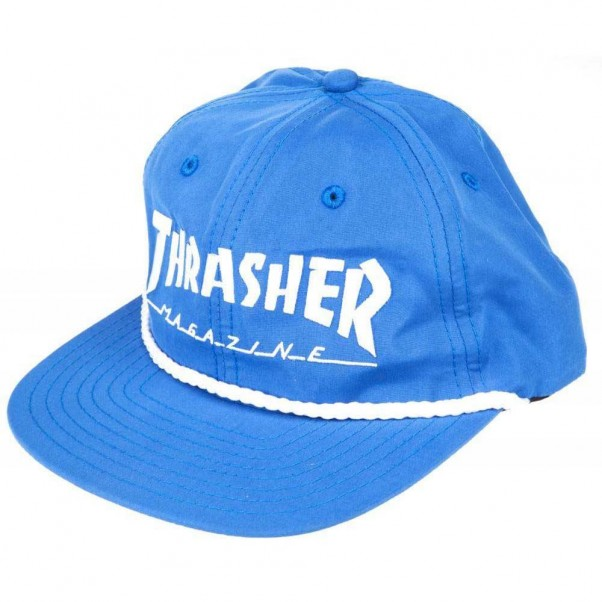Thrasher Magazine Rope Snapback Cap Blue White