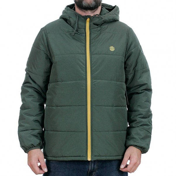 Element Alder Heavy Puff Jacket Forrest Night Green
