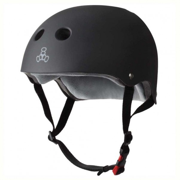 Triple 8 Sweatsaver Helmet Cert Rubber Black