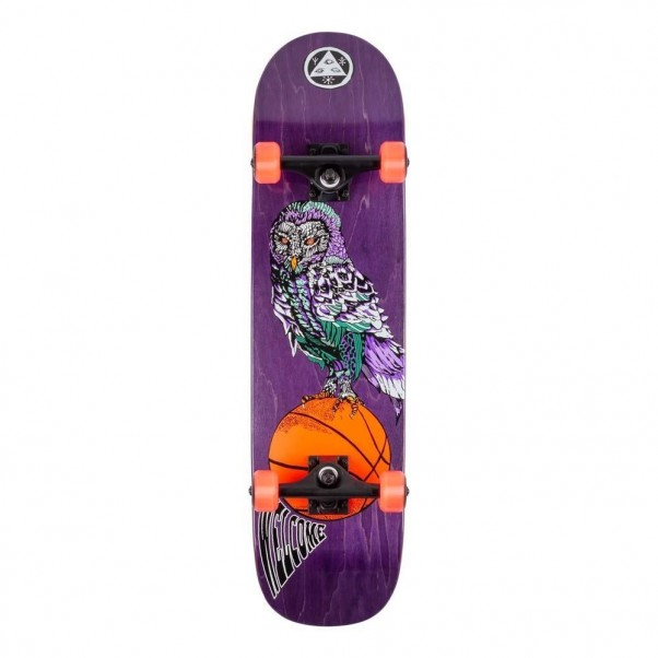Welcome Hooter Shooter Factory Complete Skateboard on Bunyip Purple 8.0