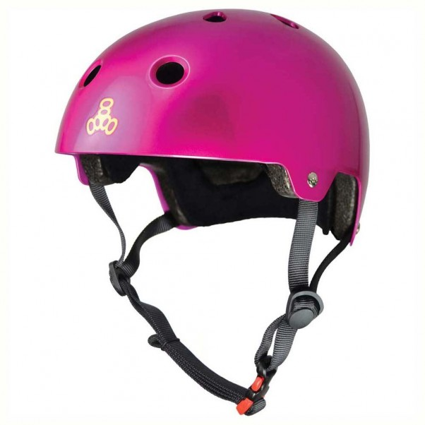Triple 8 Brainsaver EPS Helmet Metallic Pink