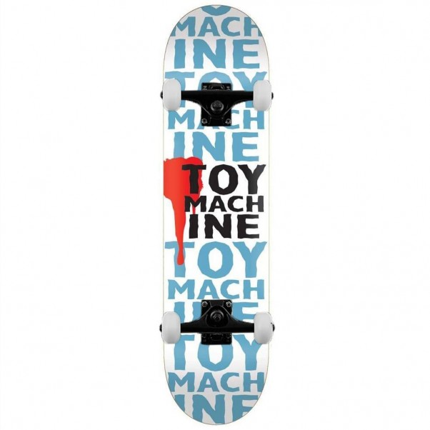 """Toy Machine New Blood Complete Skateboard White 7.63"""""""