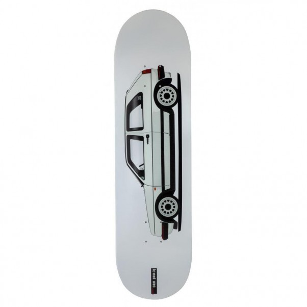 Carve Wicked Deck Burning Oil White Skateboard Deck 8.25""