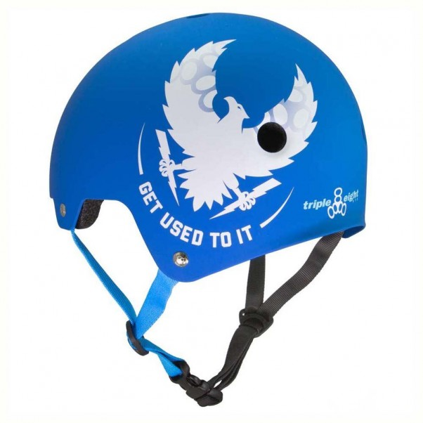 Triple 8 Brainsaver EPS Helmet Mike Vallely Royal Blue