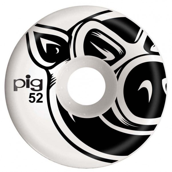 Pig 3D Conical Skateboard Wheels Natural 52mm