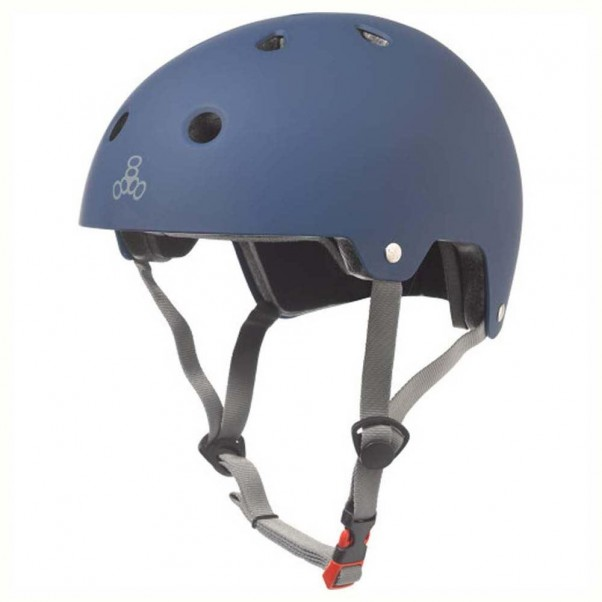 Triple 8 Brainsaver EPS Helmet Rubber Blue