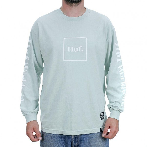 Huf Domestic Long Sleeved T-Shirt Cloud Blue
