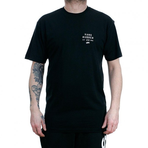 Vans Stacked Rubber T-Shirt Black