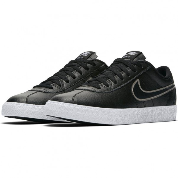 lowest price 921e7 68f22 Nike Sb Bruin Zoom Premium SE Leather Black Pewter Skate Shoes
