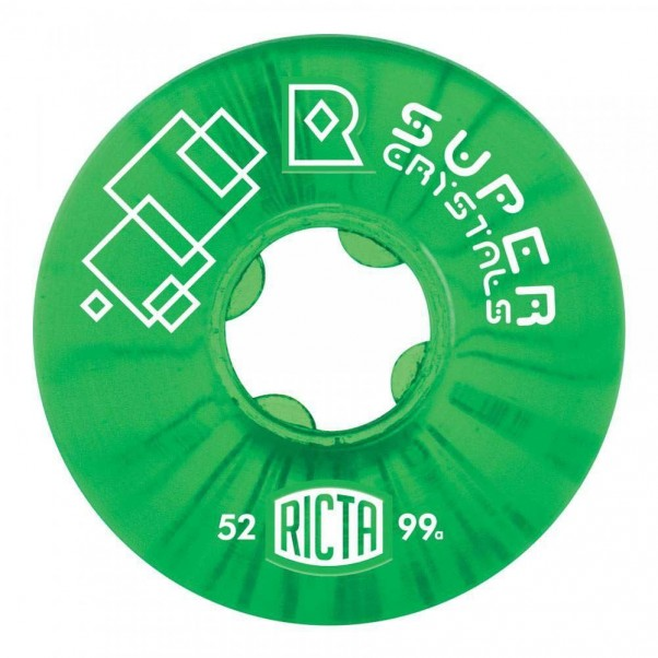 Ricta Super Crystals 99a Skateboard Wheels Green 52mm