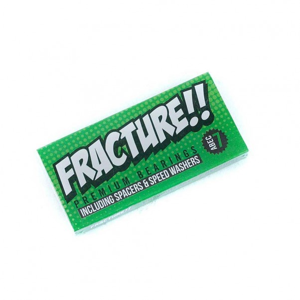 Fracture Skateboards Premium Skateboard Bearings Abec 7 Green