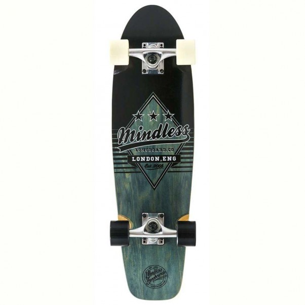 Mindless Skateboards Daily Grande II Factory Complete Cruiser Black White 28""