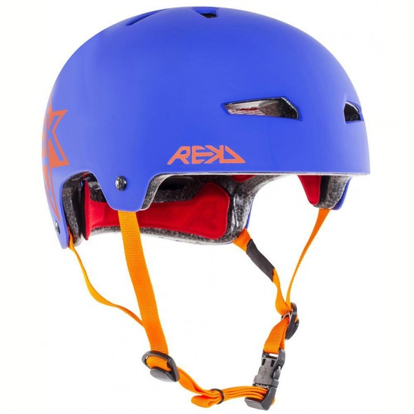 REKD Elite Icon Skateboard Bmx Helmet Blue/Orange