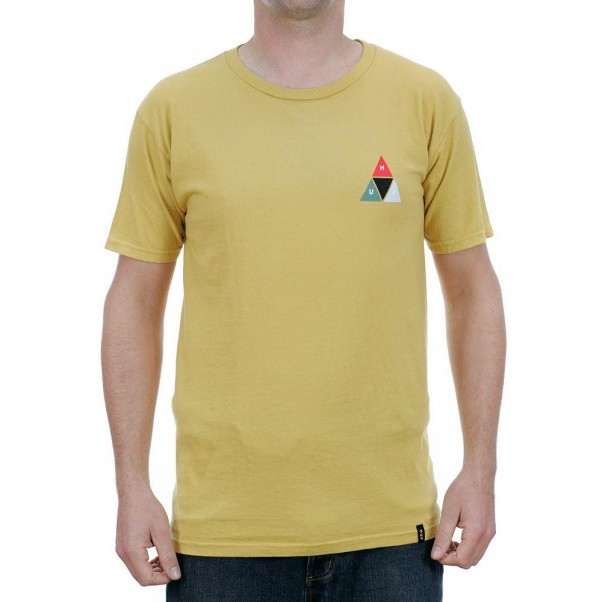 Huf Prism Triangle Short Sleeved T-Shirt Mineral Yellow