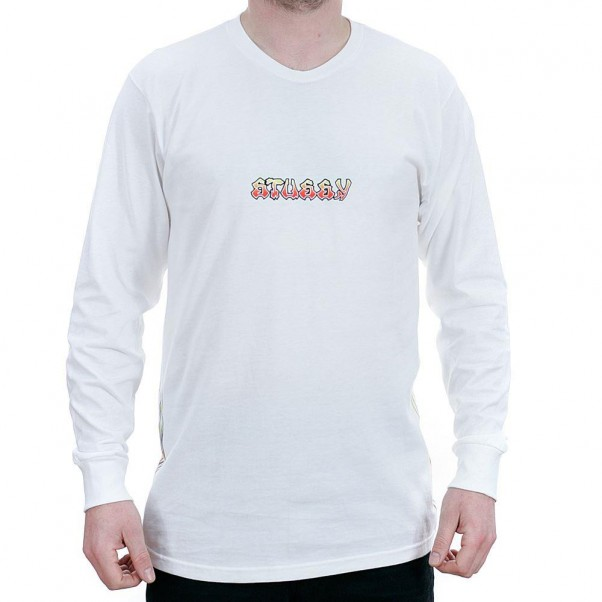 Stussy High Power Sound Long Sleeved T-Shirt White