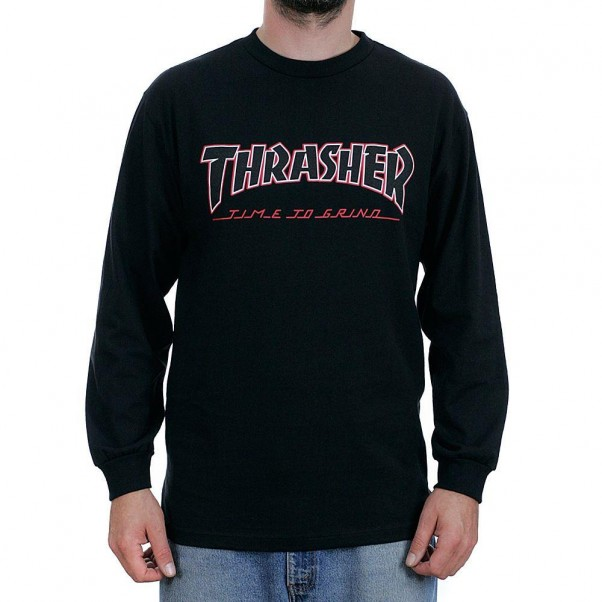 Independent Trucks x Thrasher Magazine Time To Grind Long Sleeved T-Shirt Black