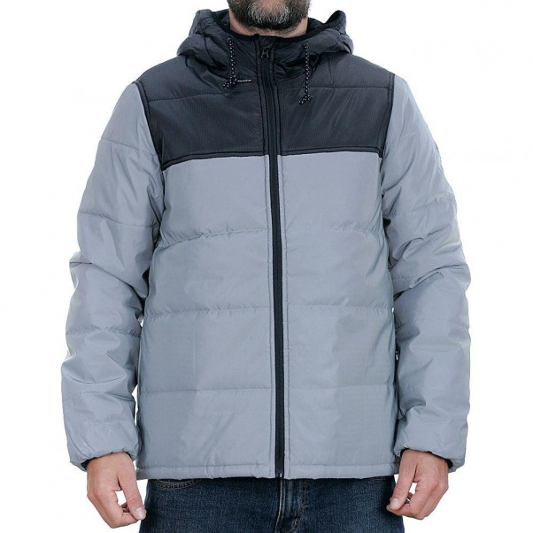 Element Alder Heavy Puff Jacket Black Grey Reflective