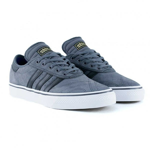 on sale 22f45 84338 ... Adidas Skateboarding Adi Ease Premiere Grey Five Core Black Feather  White Skate Shoes authentic quality 0c38e ...
